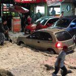 IMÁGENES: Granizada afecta tránsito en Huixquilucan y Naucalpan, Edomex